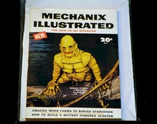 May 1954 Issue of Mechanix Illustrated with Creature photo