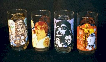 Star Wars-Burger King Set of 4 Collector Glasses photo