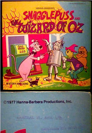 Snagglepuss and the Wizard of Oz LP photo